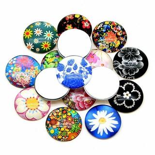 20毫米25毫米圆形混合平后玻璃毛坯凸圆形浮雕佛珠,用于珠宝制作