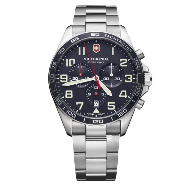 VICTORINOX 瑞士維氏 SWISS ARMY (VISA-241857) 三眼計時錶