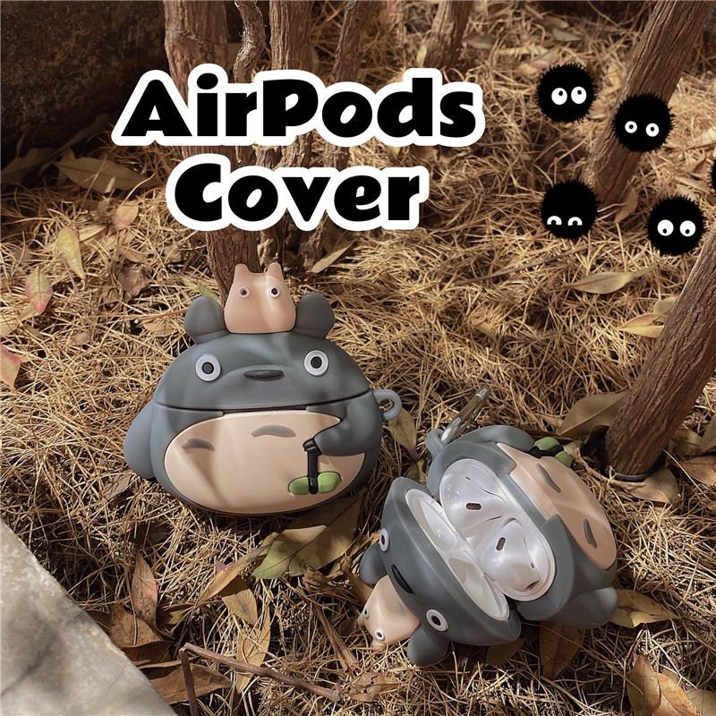 防塵防摔 Airpods Pro 卡通保護套 可愛立體龍貓 Airpods耳機套 宮崎駿 Airpods2 保護軟套
