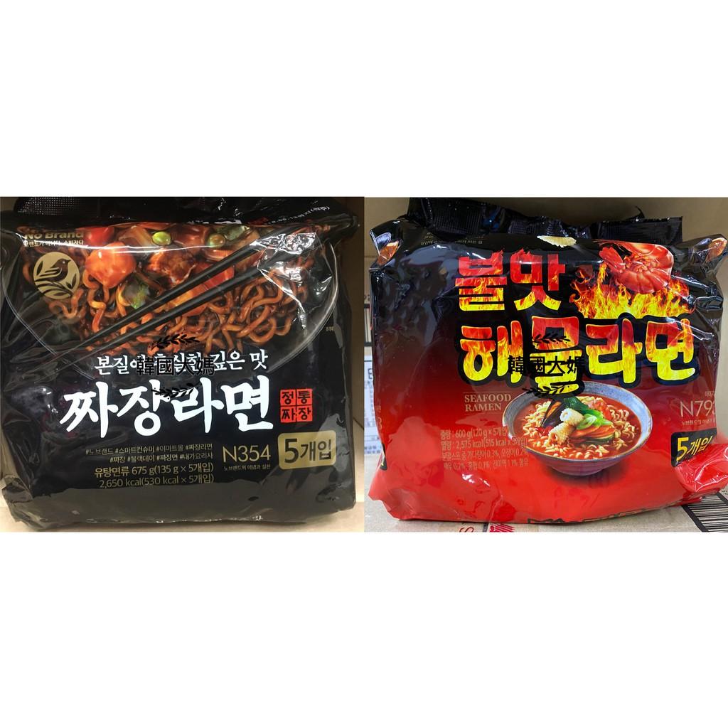 <韓國大媽>韓國No Brand 炸醬麵/炒碼麵5入