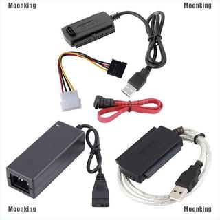 用於2.5 /  3.5英寸硬盤驅動器的Moonking SATA /  PATA /  IDE轉USB 2.0適配器轉換器電