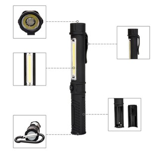 迷你多功能 10000 流明可變焦 Led 手電筒 Cob 工作手電燈