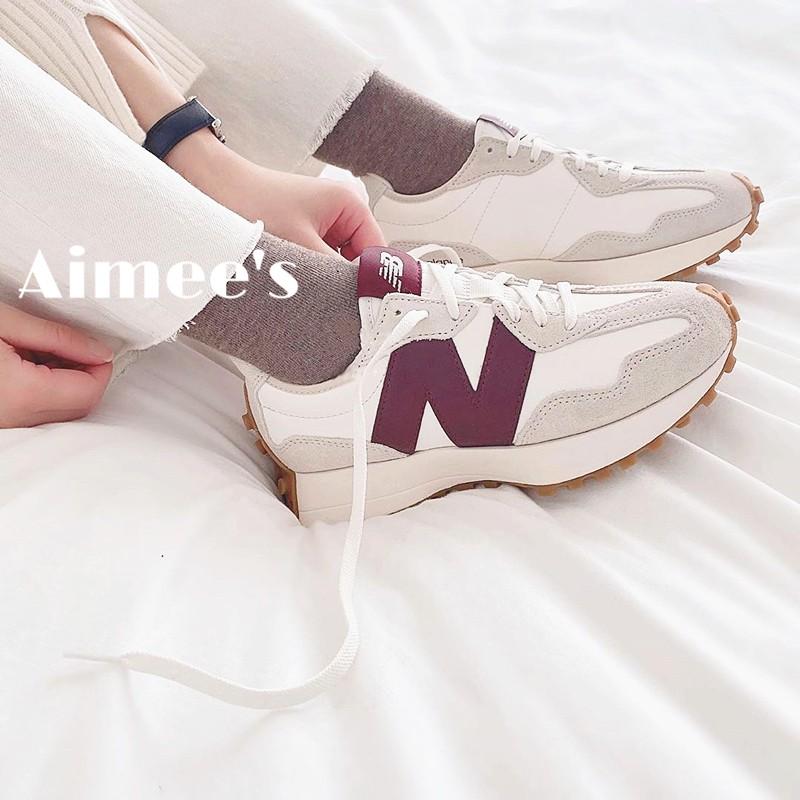 New Balance 327 NB x STAUD 聯名款 新款 酒紅 男女鞋 nb327  WS327KA