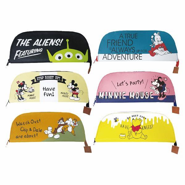 現貨❗️日本 Disney迪士尼半月造型筆袋 鉛筆盒 文具收納 筆袋 造型筆袋 三眼怪/米奇米妮/維尼/奇蒂/小美人魚