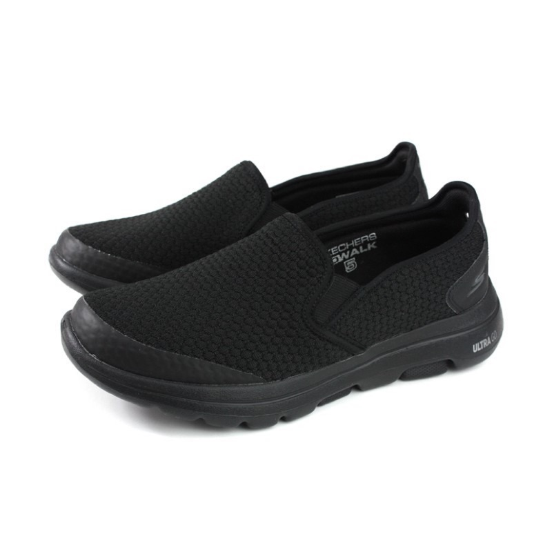 SKECHERS GO WALK 5 運動鞋 懶人鞋 休閒鞋 男鞋 黑色 55510BBK
