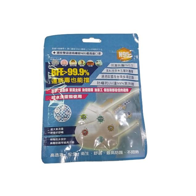 台灣精碳N95醫用口罩 可水洗 永康如意
