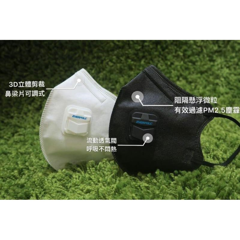 【TOE拇指小舖】EVERPOLL 愛惠浦科技 【防霾PM2.5口罩】 (10入含透氣閥)