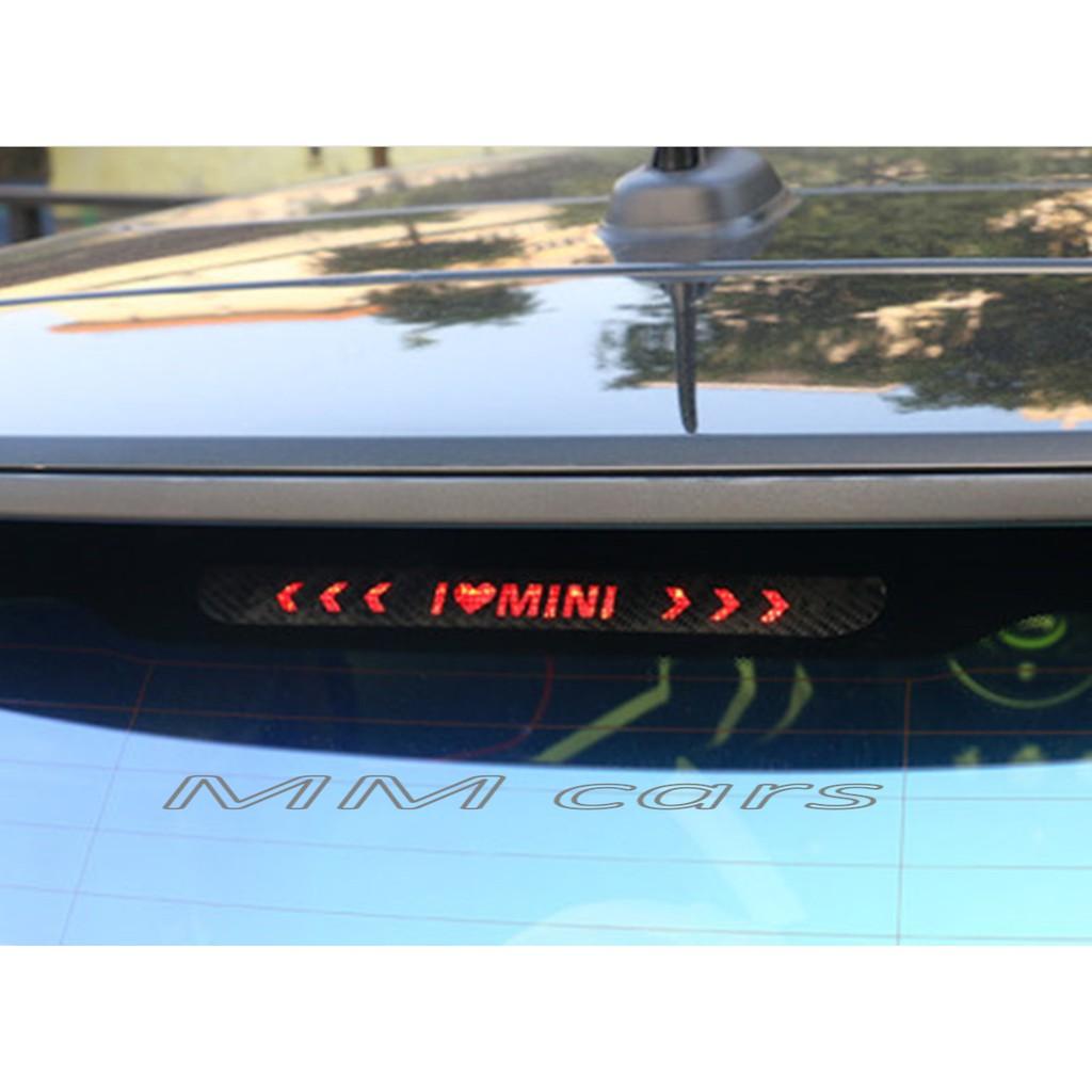 MINI Cooper S R56 F55 F56 迷你 三門 後擋風 玻璃 高位 第三煞車燈 尾燈 碳纖維 卡夢 貼紙