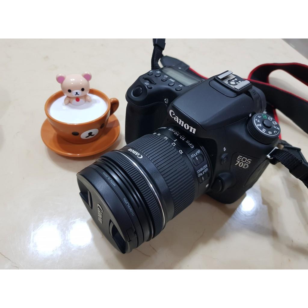(二手) canon 70D 附鏡頭17-55mm F2.8 含保護鏡(B+W)
