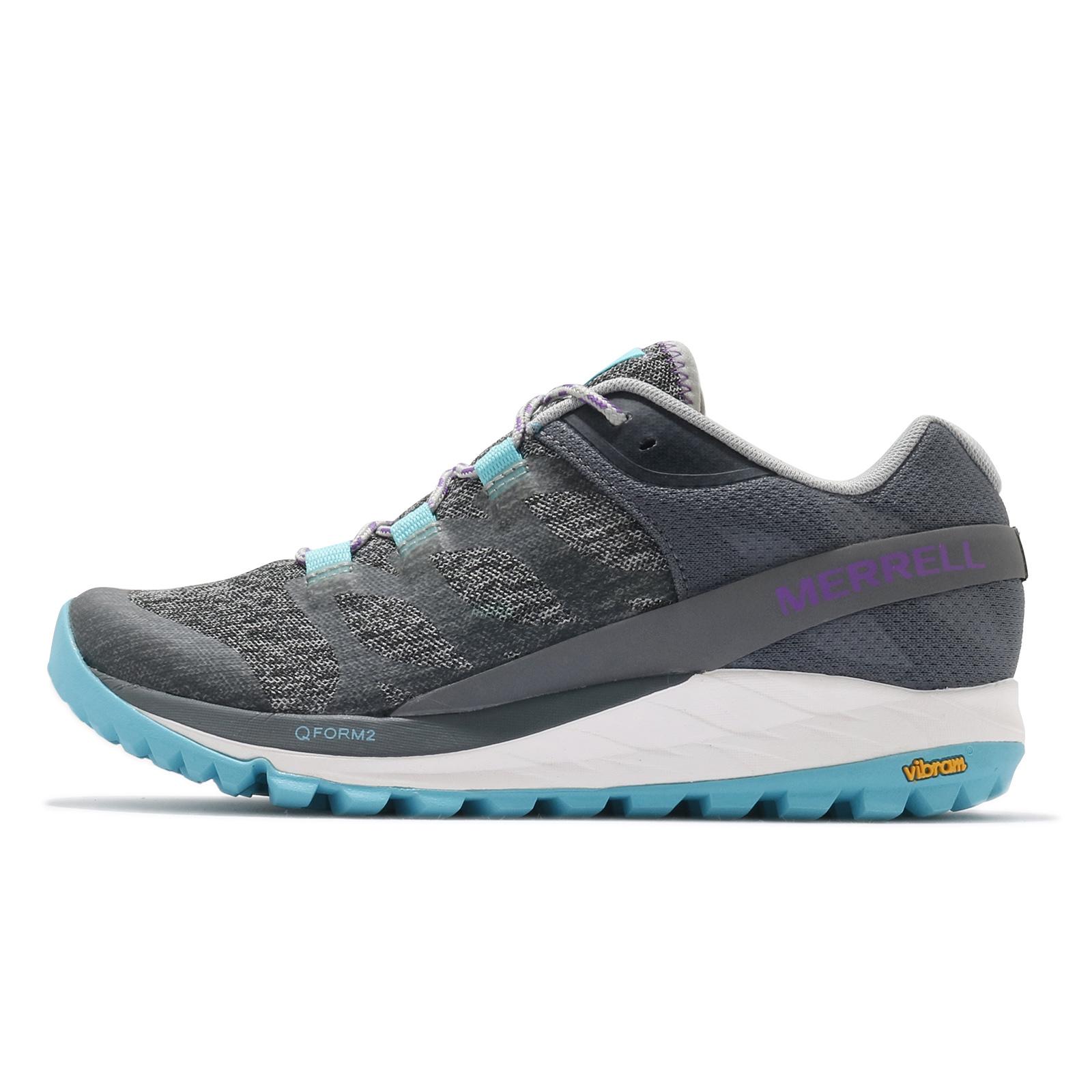 Merrell 戶外鞋 Antora 灰 白 藍 黃金大底 Vibram 低筒 女鞋 登山鞋【ACS】 ML066126