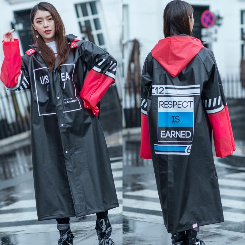 旅行潮牌雨衣 男女同款 外套時尚戶外 騎行徒步 全身長款 防爆雨披