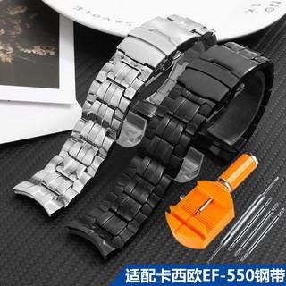 【現貨 免運】 新款 代用卡西歐EF-550D運動紅牛限量版 賽車三眼計時男錶鏈精鋼手錶帶 臺中市