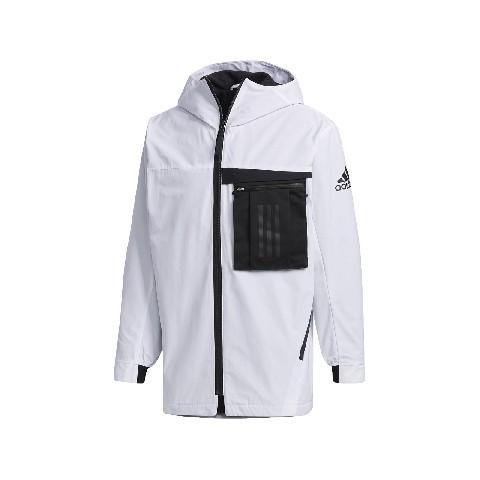 特價出清 ADIDAS 男款 愛迪達 白色 機能 工裝 風衣外套 FM9394