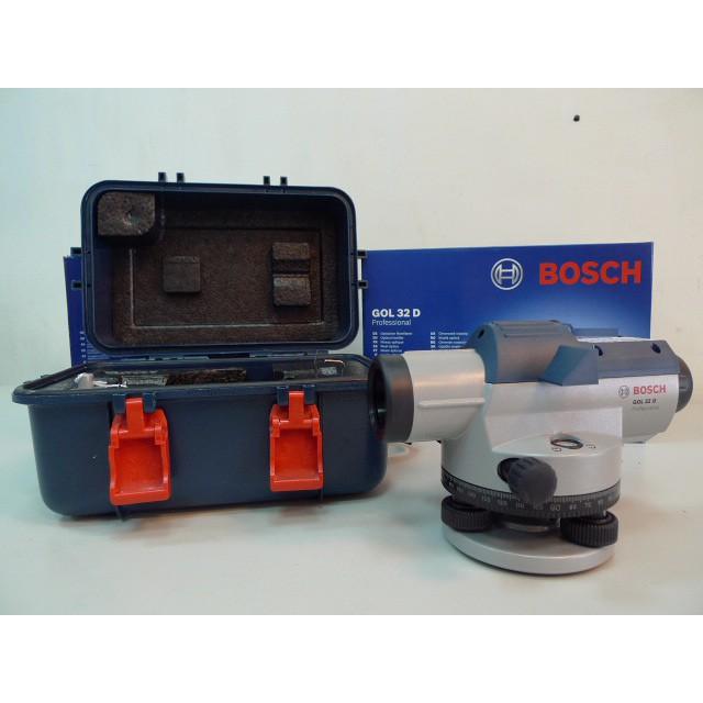 ☆捷成儀器☆德國BOSCH GOL32D 水平儀/水準儀 附腳架及箱尺