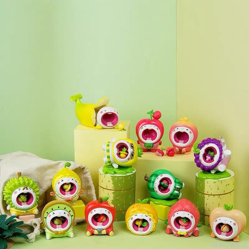 【正版】 MOCHIE小牙弟水果寶寶系列盲盒玩具公仔 可愛少女心手辦潮玩偶擺件 #19八3#666