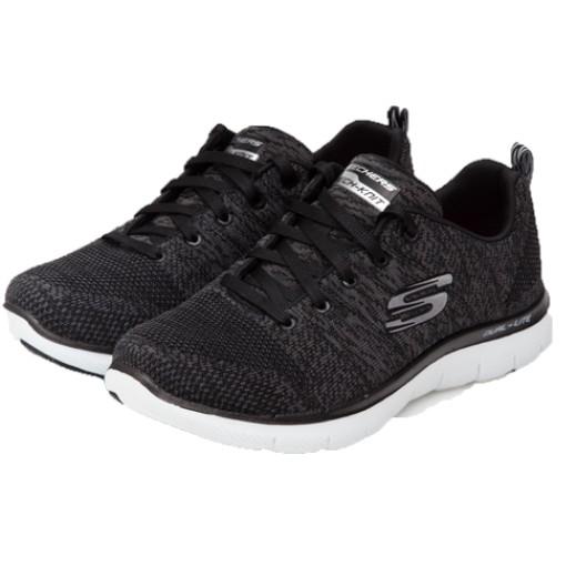 SKECHERS FLEX APPEAL 2.0 女 寬楦休閒鞋 12756WBKW剩23.5cm [現貨]