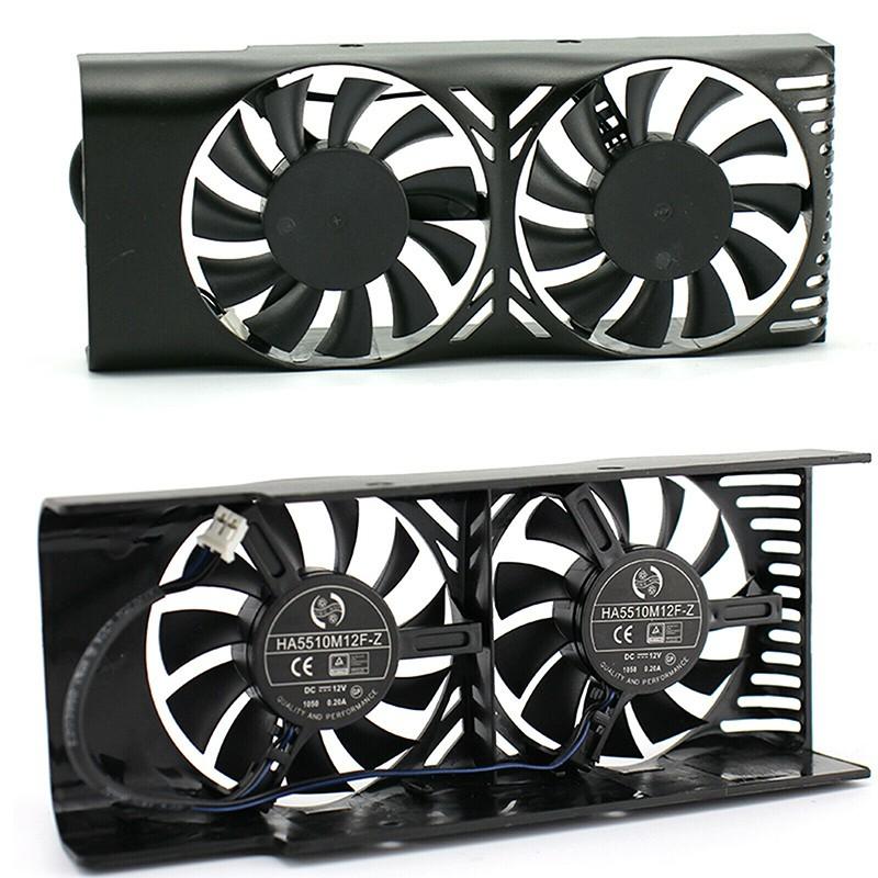 適用於MSI GeForce GTX 1050 2GT LP圖形卡的雙風扇冷卻風扇散熱器0.20A