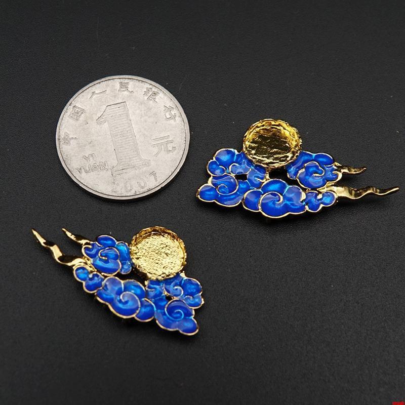 現貨 diy手工制作飾品配件黃銅發簪步搖頭飾材料寶石托圓形戒托CT102