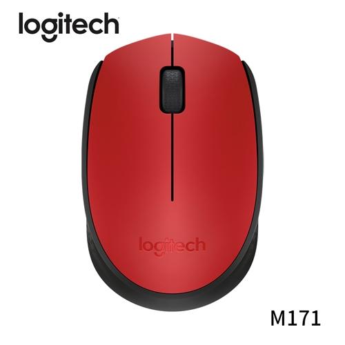 Logitech 羅技 M171 2.4GHZ 無線滑鼠 紅色