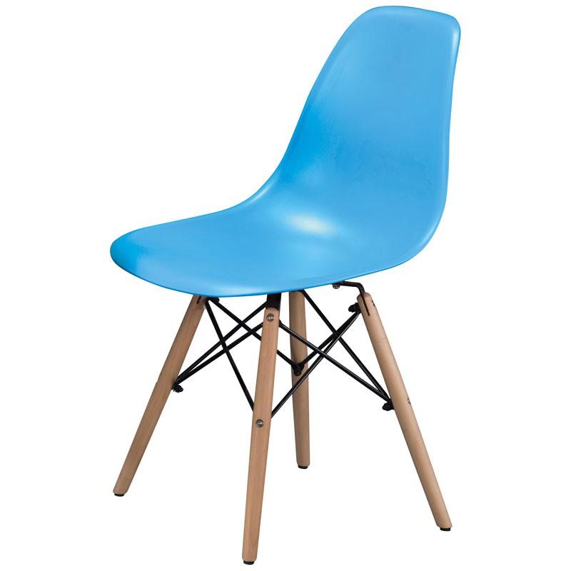 【C1961-05】PP塑鋼造型椅(9638)(藍)