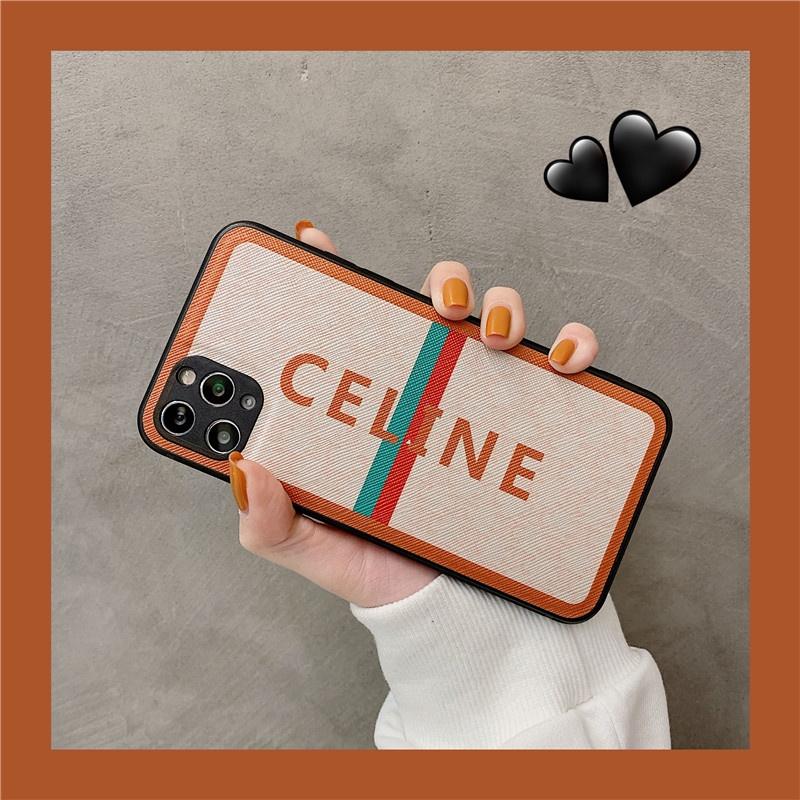 ⭐免運⭐蘋果12手機殼創意條紋賽琳娜Celine文字手機殼適用11Pro/Max蘋果X/XS/XR/SE保護套iPhon