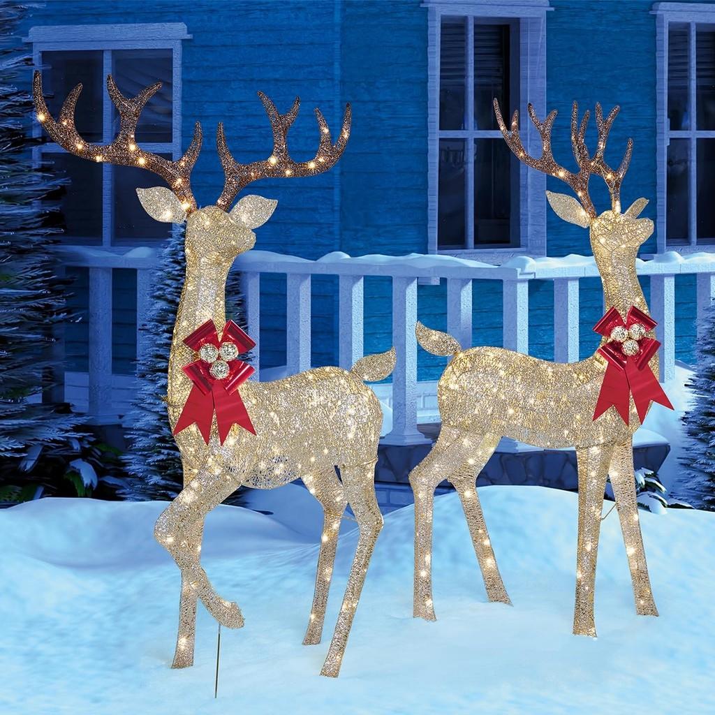 72吋 LED 麋鹿裝飾燈 2入 聖誕裝飾 聖誕燈飾 / COSTCO 好市多代購