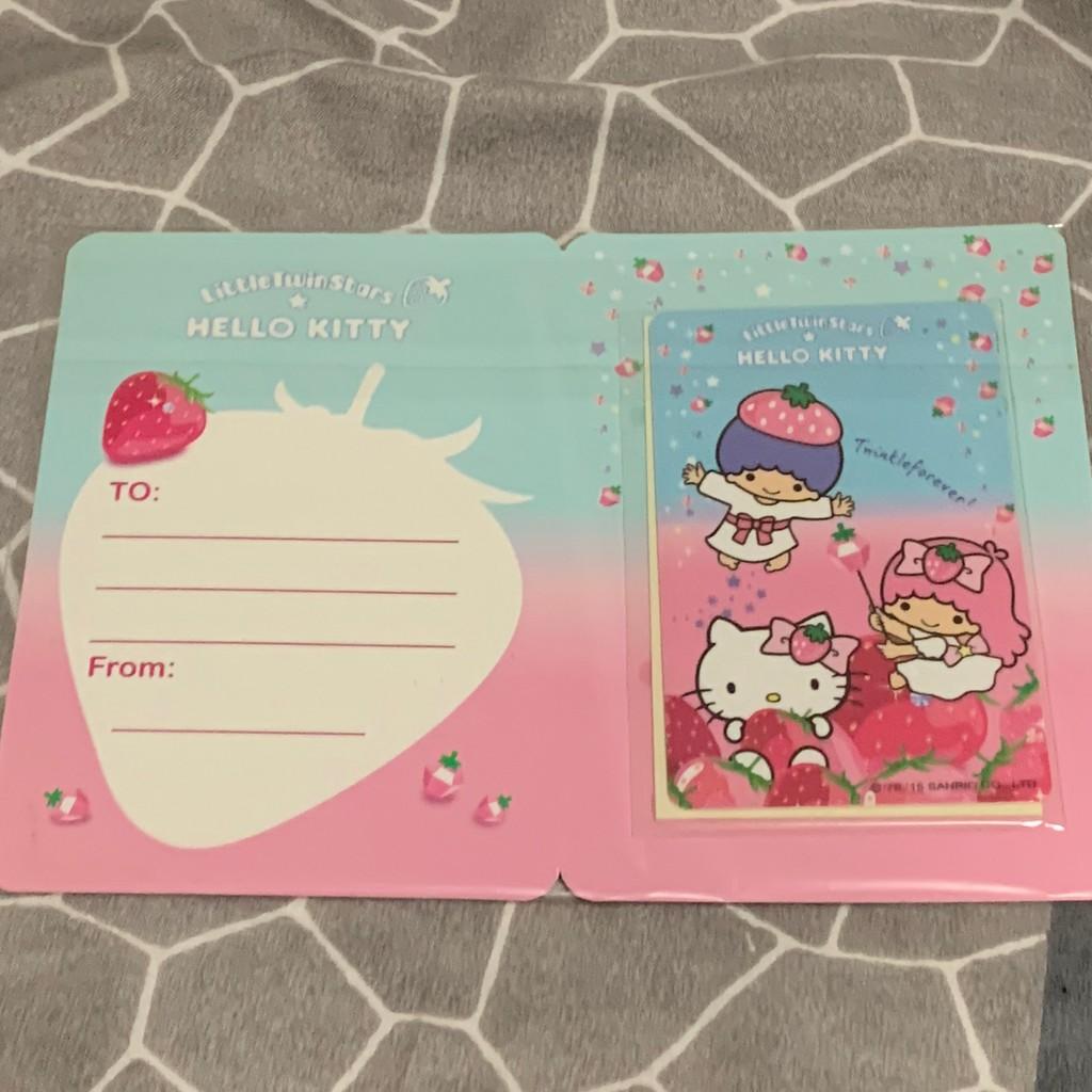 Hello Kitty&雙子星-閃亮草莓季悠遊卡