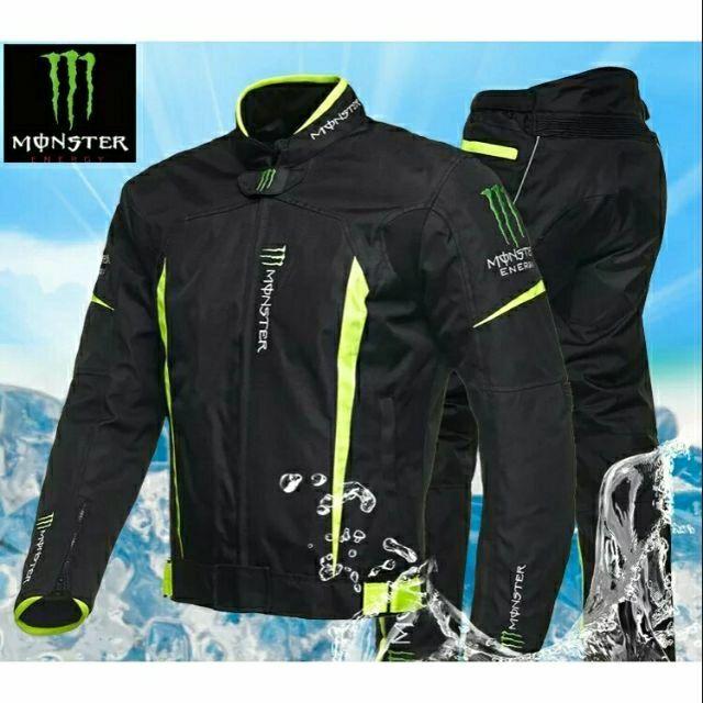Monster 鬼爪防摔防風防潑水,可保暖四季款防摔衣(套裝價$4000)