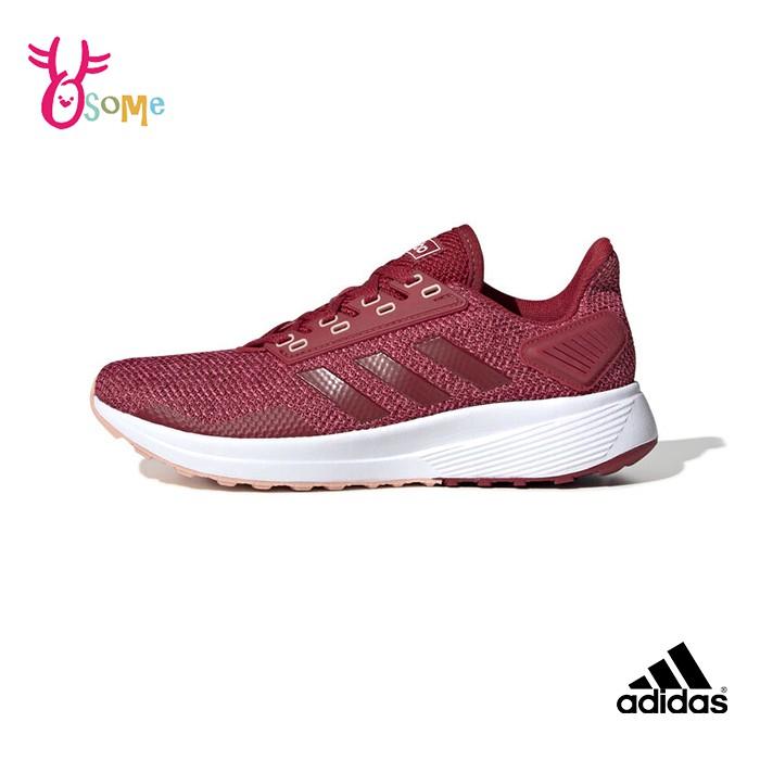 adidas運動鞋 女鞋 RUNFALCON K 運動鞋 跑鞋 針織布 大童鞋 S9304桃紅OSOME奧森鞋業