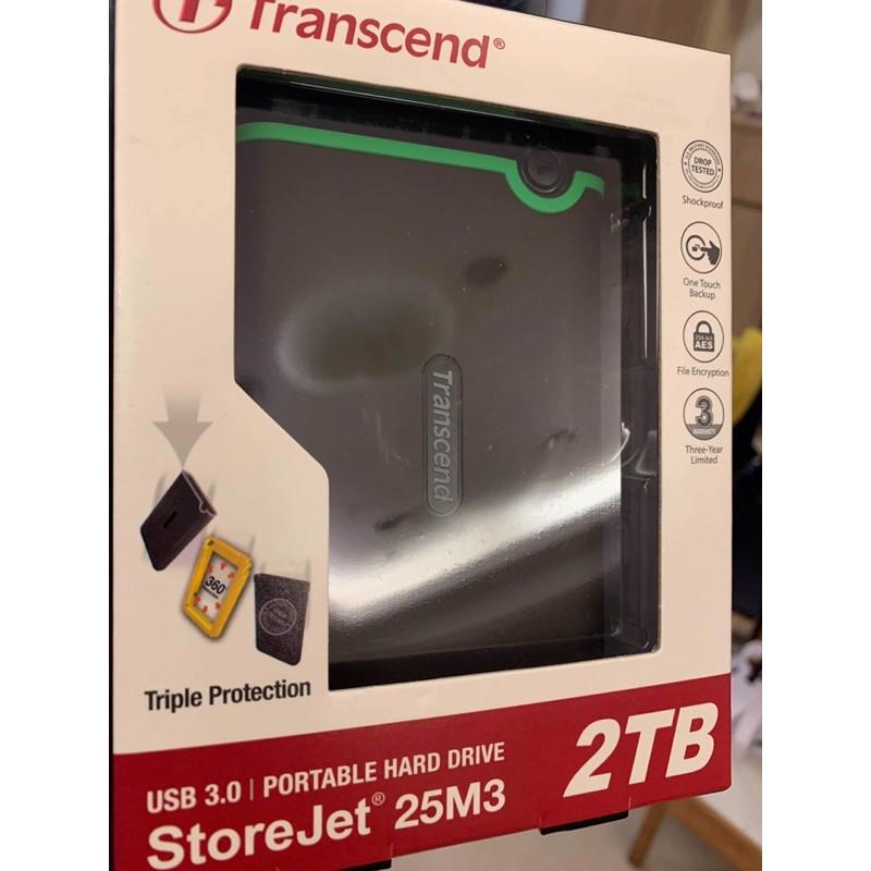 全新 未開封 過保Transcend創見 storejet 2T 25m3硬碟