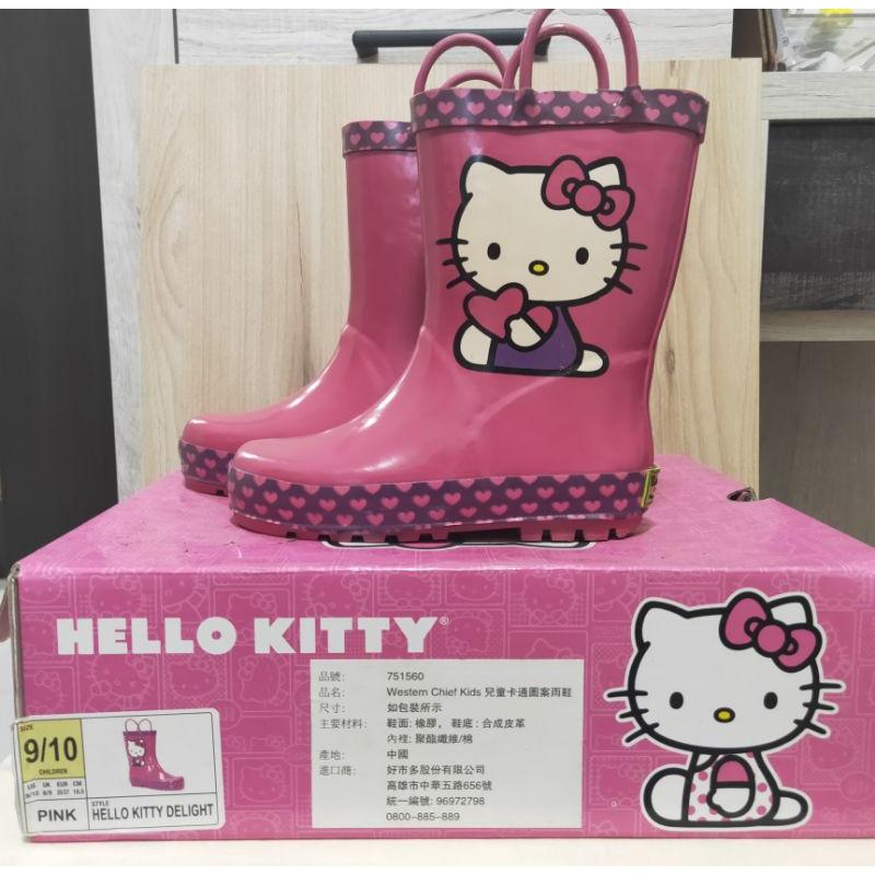 好市多Hollo kitty 兒童雨鞋18公分