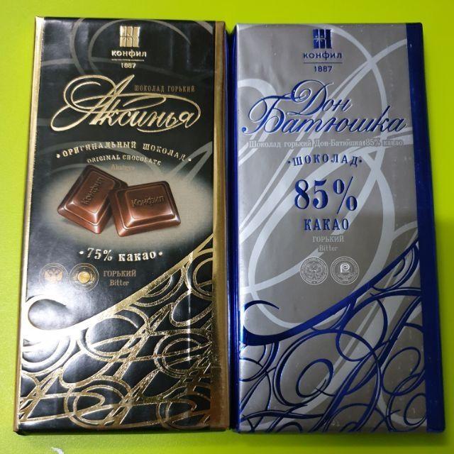酮食分享團-俄式巧克力康菲75%85%可可純黑巧克力100g