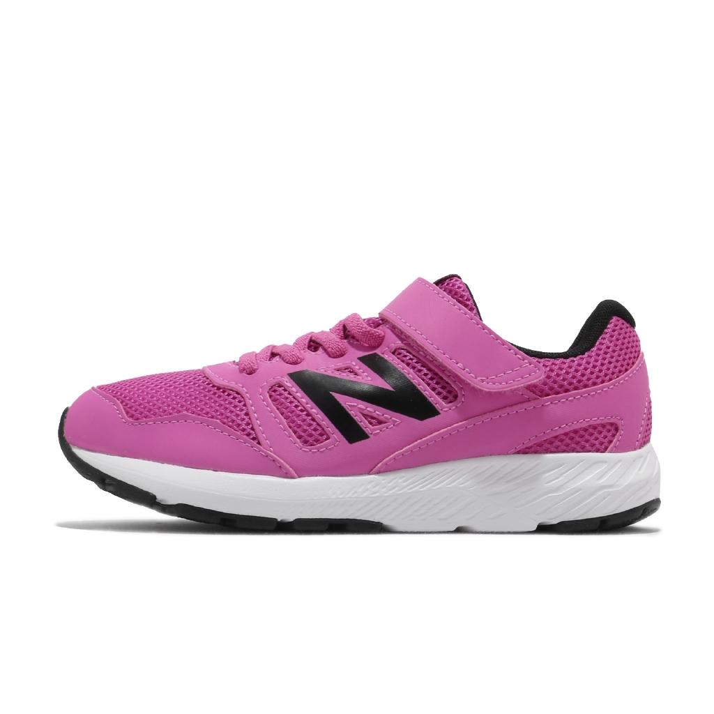 New Balance 570 寬楦 桃紅 黑 魔鬼氈 NB 運動鞋 童鞋 女鞋 紐巴倫【ACS】 YT570PW W