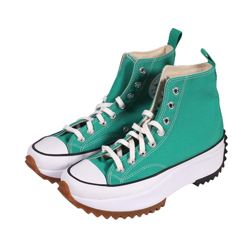 CONVERSE 女 RUN STAR HIKE HI COURT GREEN 高筒帆布鞋-170441C 廠商直送