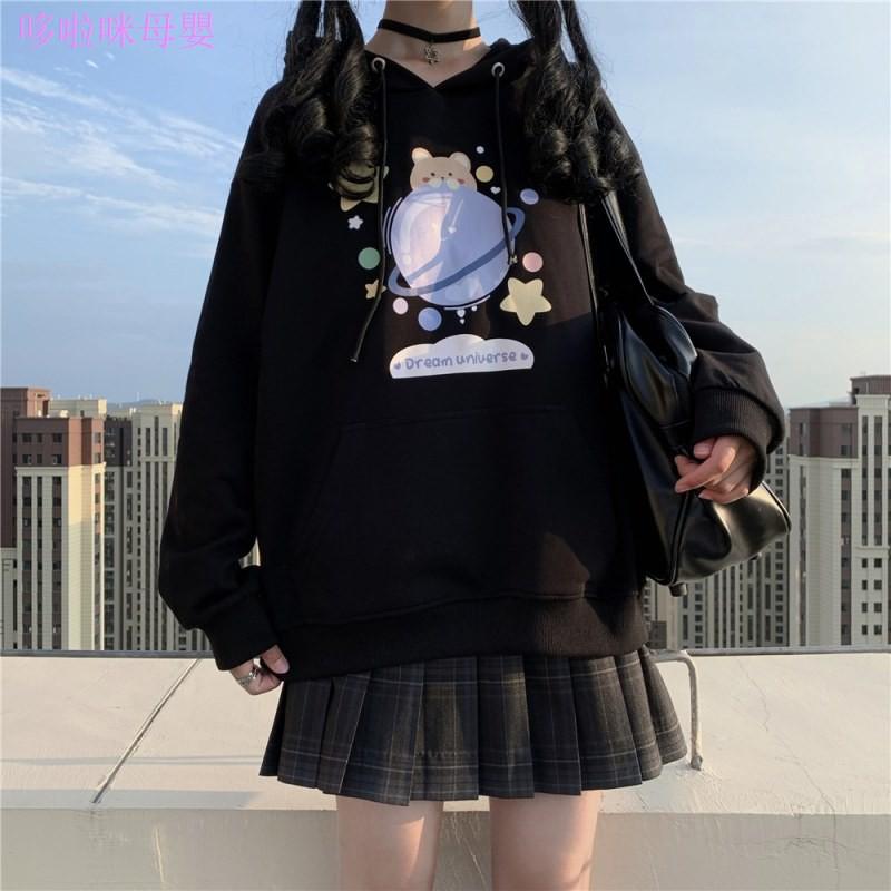 ஐjk制服 秋冬正版衛衣全套 秋裝黑色衛衣外套 格裙學生裝 學院風套裝