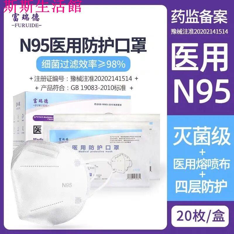 美兒-醫用N95防護口罩無菌醫療級防飛沫防疫醫生抗病毒獨立包裝