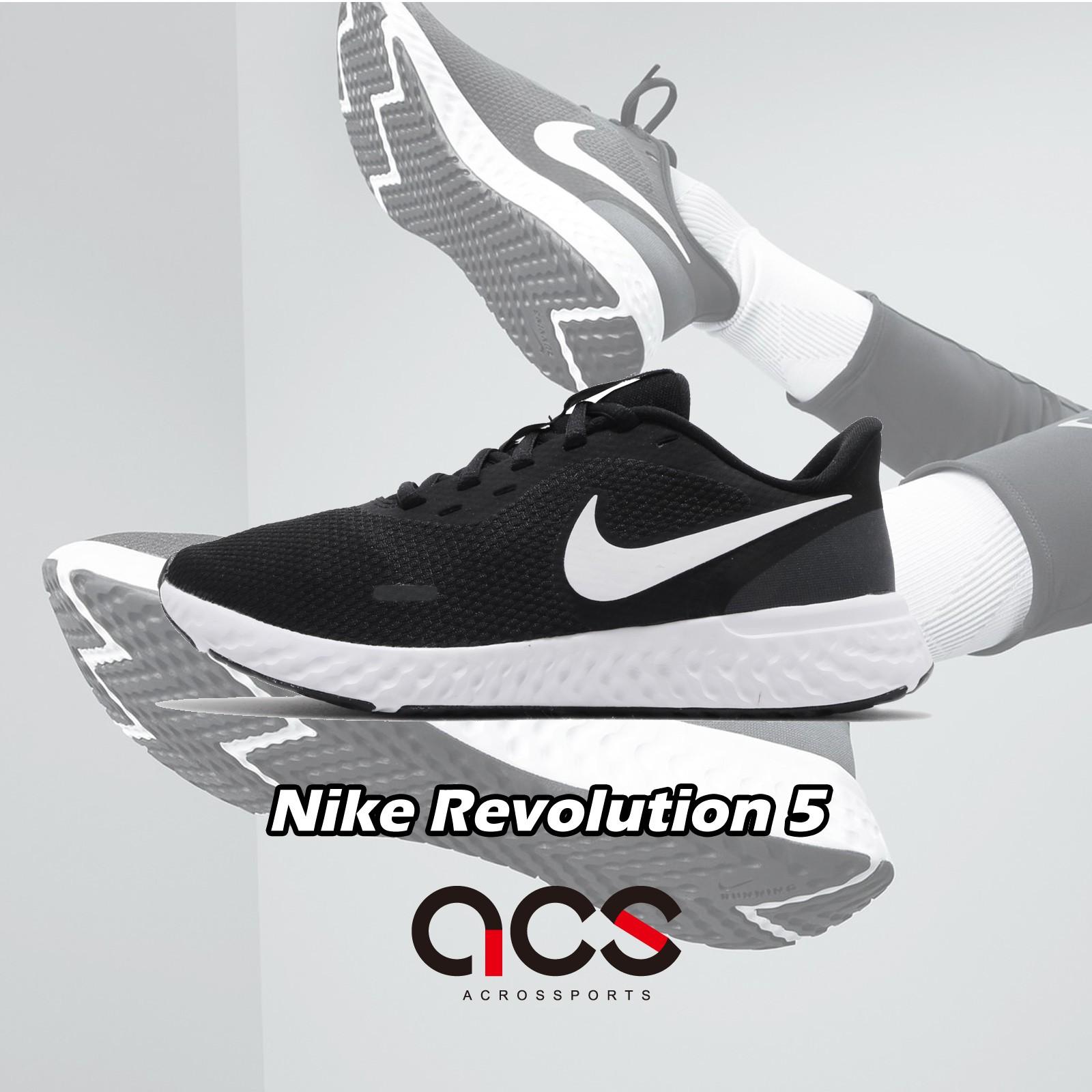 Nike 慢跑鞋 Wmns Revolution 5 黑 白 女鞋 運動鞋 BQ3207-002 【ACS】