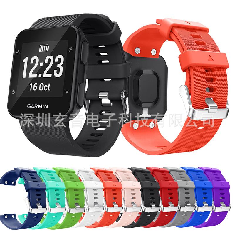 佳明Garmin Forerunner35矽膠錶帶 F35/30官方同款運動款矽膠錶帶