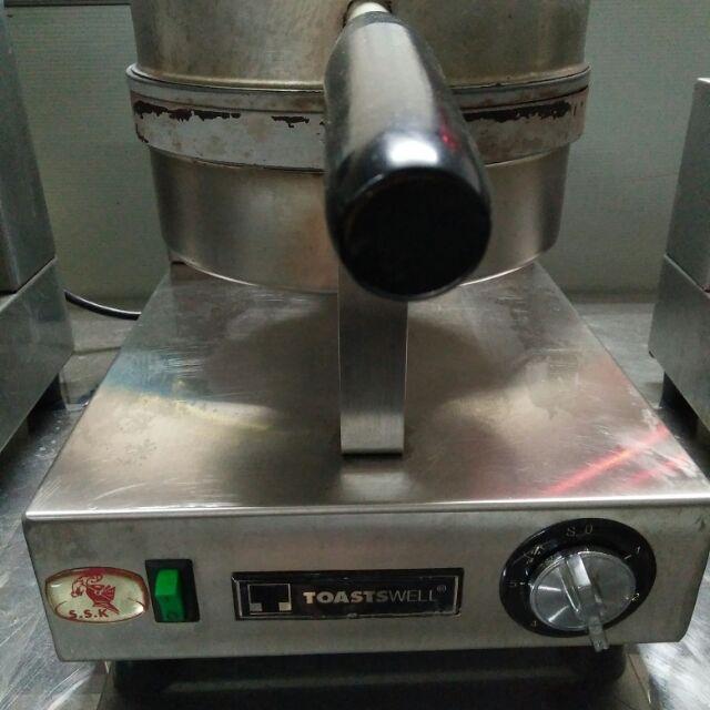 Toastswell 專業營業用-細格單圓形 鬆餅機