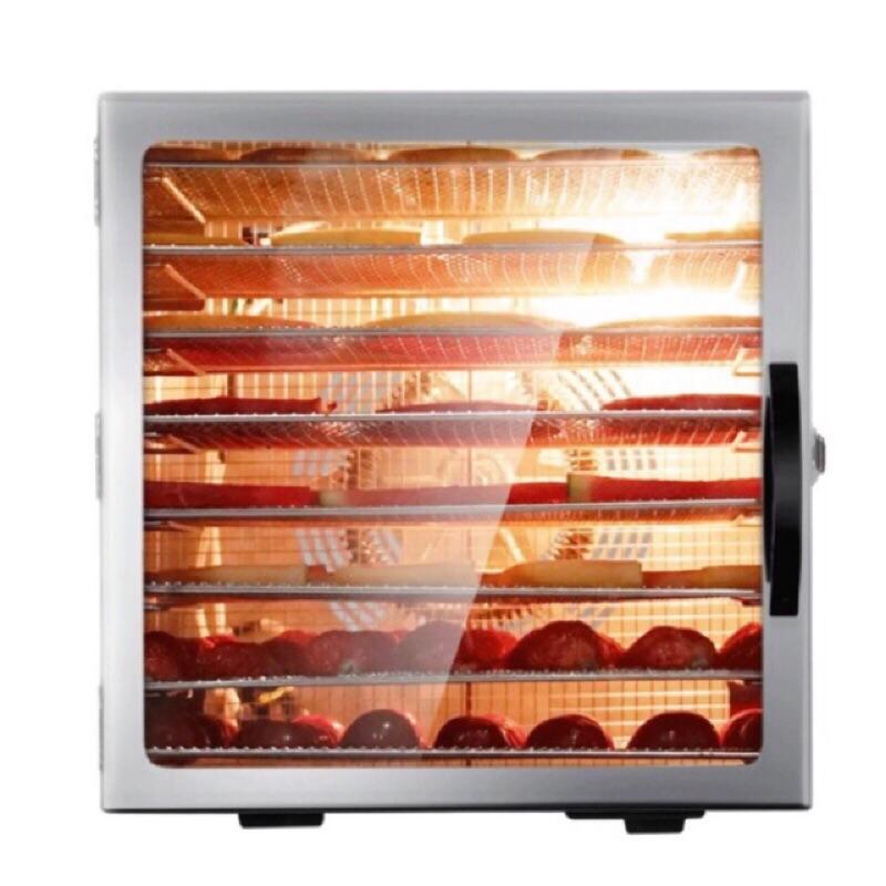 UCK⭐️8層溫控不銹鋼食物乾燥機 乾果機 最新款玻璃門帶燈烘乾機 烘焙機烘肉乾機烘花茶機蔬菜水果脫水機 110v