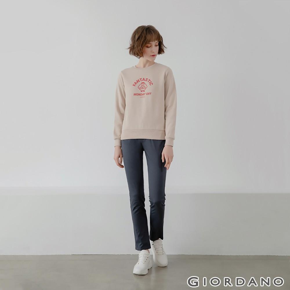 GIORDANO_女裝中腰標準窄管休閒褲-08 冷灰 05411537