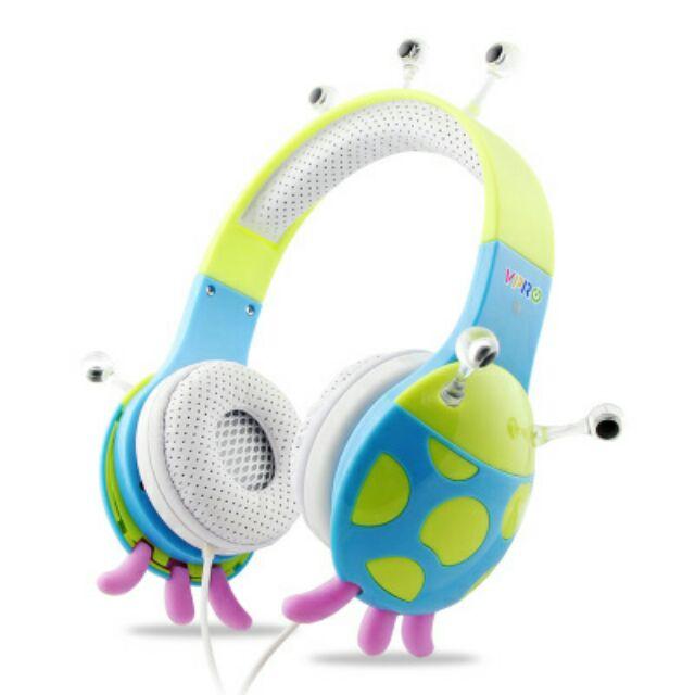 【全新】vpro 怪獸系列頭戴式低分貝兒童學習耳機/可拆式