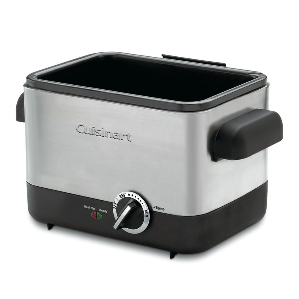 免運可刷卡 Cuisinart 不鏽鋼輕巧型溫控油炸鍋 (CDF-100TW) 商品編號:#110230 好市多代購.