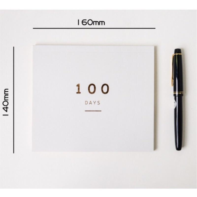 《文具の日常》韓版文具 小清新 100天讀書計畫本 夢幻色系 計劃本 計畫本 進度表 100天倒數計畫 記事本 現貨供應