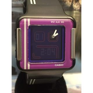 二手卡西歐 CASIO LCF-21-4復古電玩潮流概念女錶(紫X黑) 世界時間 碼表 倒數計時 鬧鈴 澎湖縣