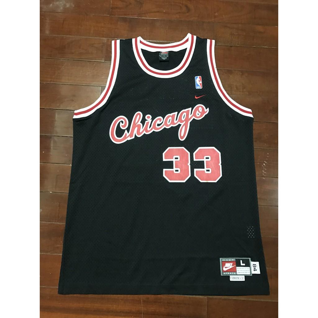 PIPPEN - NBA - 公牛草寫黑#33(極少見版本)-芝加哥公牛 天下第二人-NIKE絕版SW-八成五新