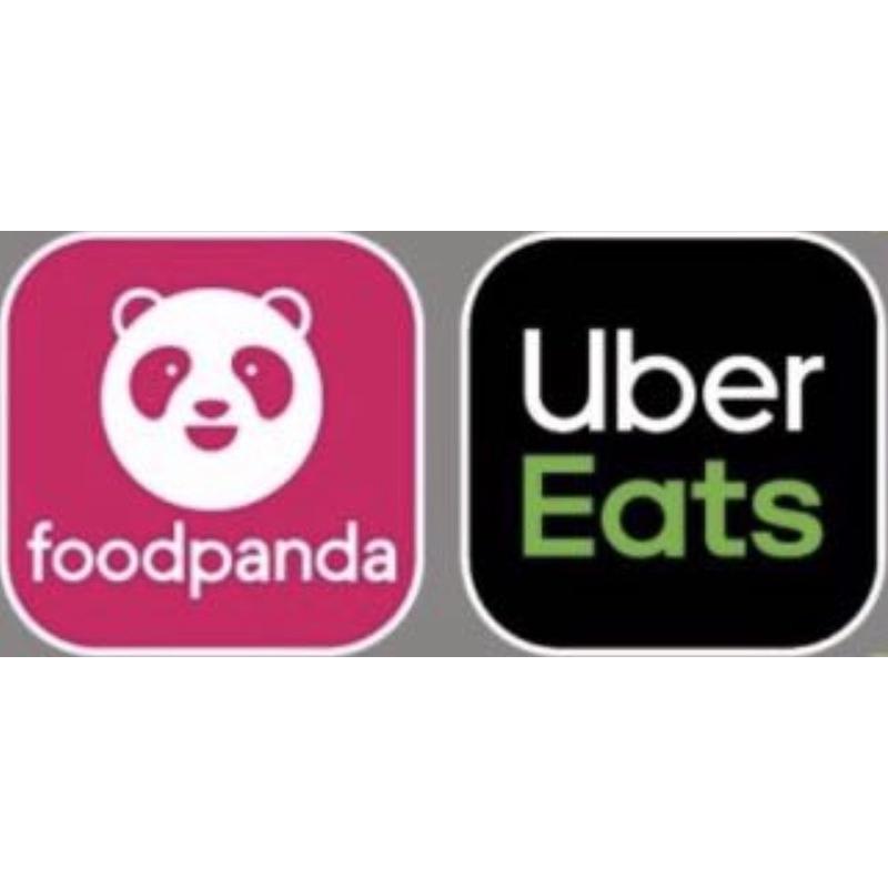 [BJ商城]台灣現貨🇹🇼大小張貼紙外送品牌 foodpanda熊貓 UberEats3M貼紙 汽機車安全帽