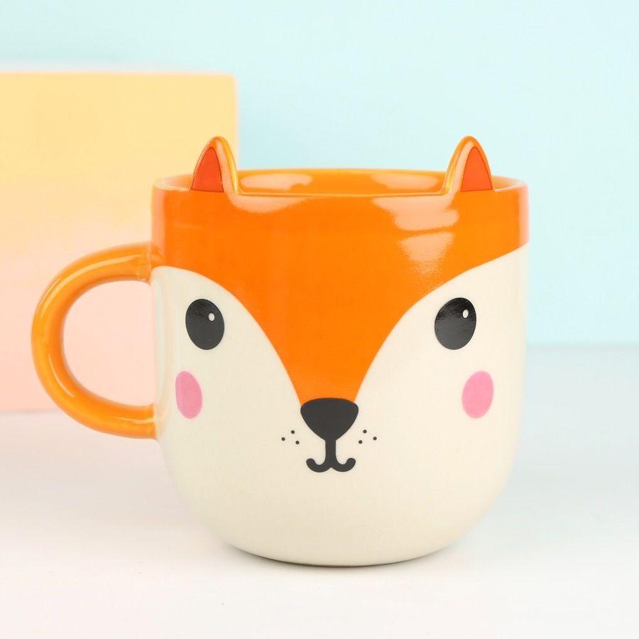 英國 Sass & Belle ─ 可愛狐狸馬克杯 交換禮物 生日禮物