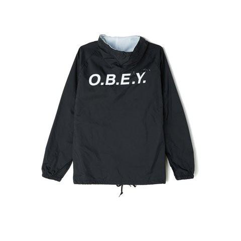 Obey O.B.E.Y. Hooded Coaches 防風外套 (黑)《Jimi Skate Shop》