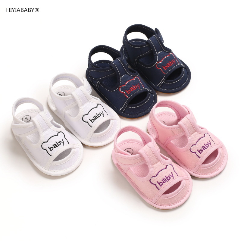 夏季0-1歲嬰兒男女寶寶鞋子透氣鏤空軟膠底學步0-6-12個月卡通止滑涼鞋